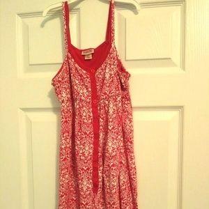 Spaghetti Strap Dress! Pink and White